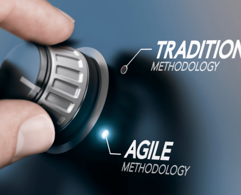 knop agile versus traditionele methodologie