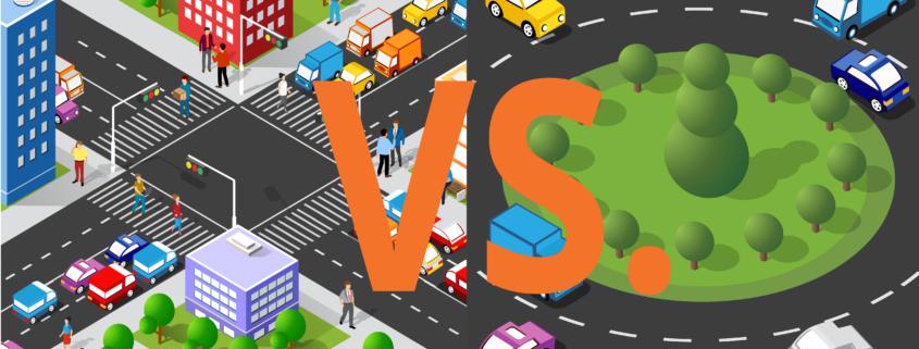 Kruispunt versus rotonde